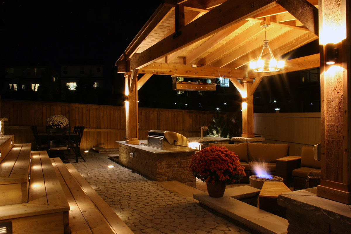 backyard landscaping, backyard landscaping design, backyard getaway, night lighting, outdoor ightng, patio lighting, courtyard