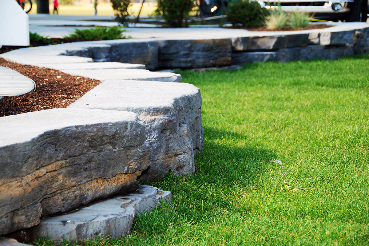 Landscaping Calgary Ananda Landscapes Built Retaining Wall