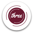 icon that says 'three'