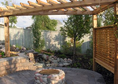 backyard design garden design retaining wall built by Ananda Landscapes