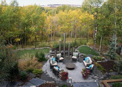 Landscaping Calgary outdoor fireplace fire places