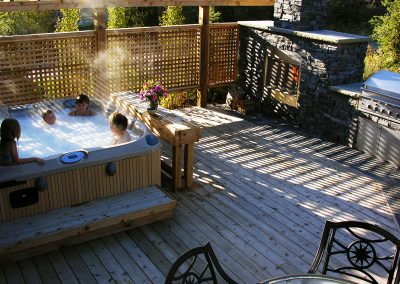 hot tub on your beautiful hardwood deck