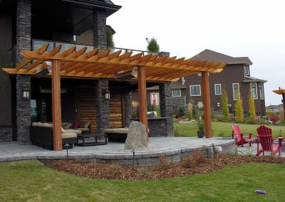 deck pergola backyard design