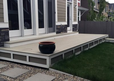 custom made wood deck small yard