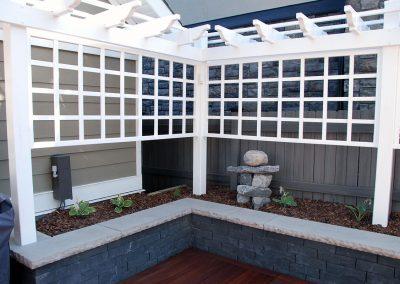 Privacy screen calgary backyard garden design outdoor space outdoor oasis backyard idea