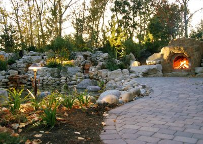 Landscaping Calgary outdoor fireplace fire places fire pit firepit