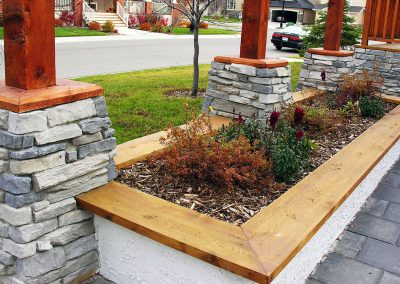 rendered retaining wall wooden retaining wall