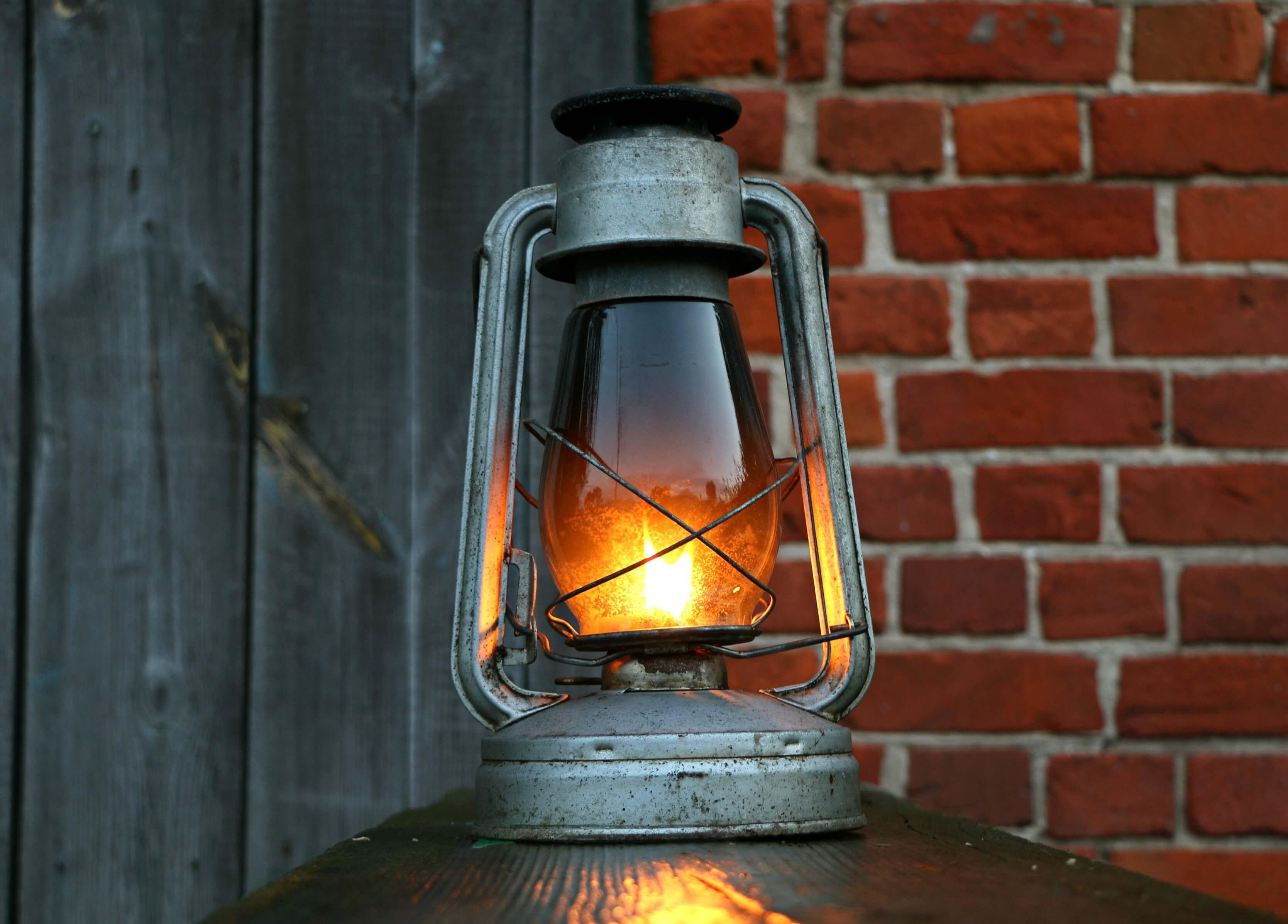 antique lantern for backyard landscaping
